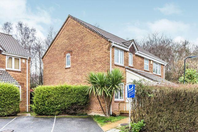 Thumbnail End terrace house to rent in Flint Close, Netley Common, Southampton
