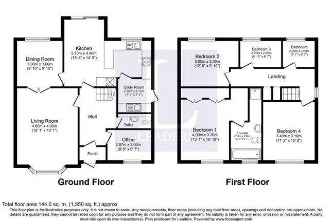 Floor Plan of Tythe Barn Lane, Shirley, Solihull B90