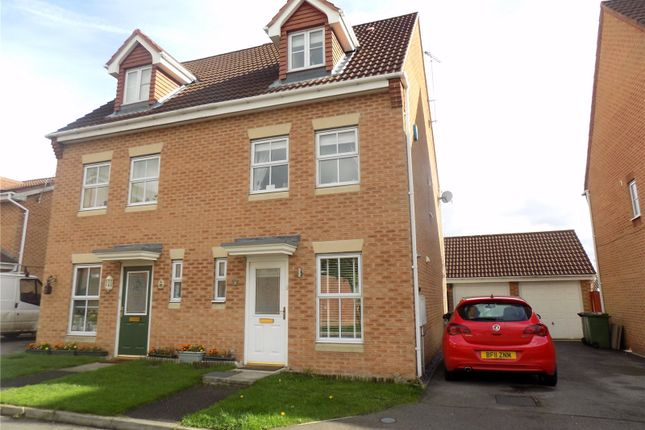 Thumbnail Semi-detached house for sale in Bella Close, Langley Mill, Nottingham, Derbyshire
