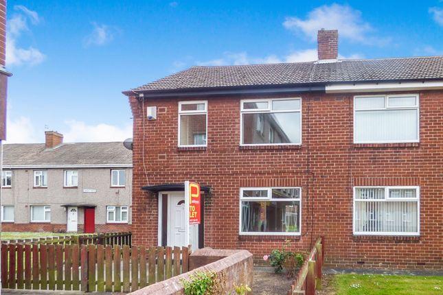 Thumbnail Semi-detached house to rent in Coupland Road, Ashington