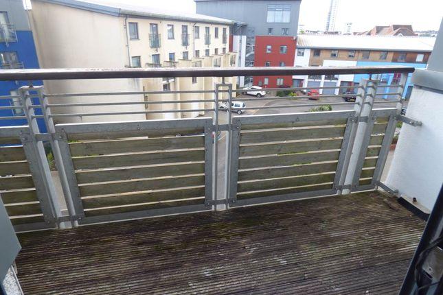 Balcony of St Christophers Court, Maritime Quarter, Swansea SA1