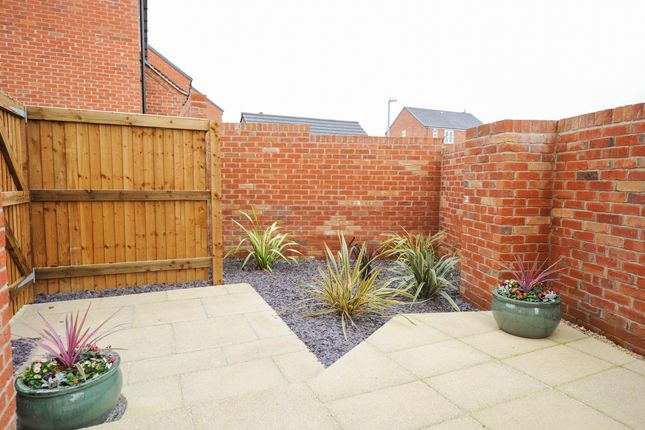 Side Patio Area of 24 Hunters Walk, Chesterfield S40