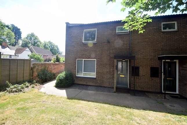 Thumbnail End terrace house for sale in Weavers Close, Hadleigh, Ipswich