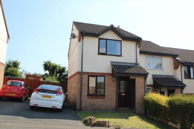 Thumbnail End terrace house to rent in Poplar Close, Plymouth