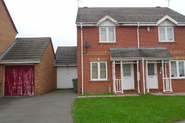 Thumbnail Semi-detached house to rent in Darien Way, Thorpe Astley, Braunstone, Leicester