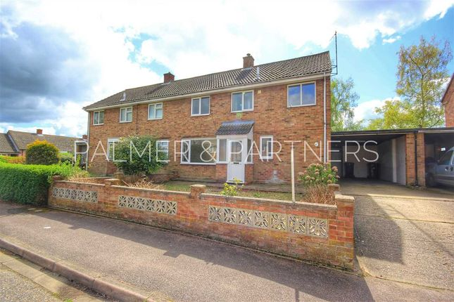 Thumbnail Semi-detached house for sale in Chestnut Road, Glemsford, Sudbury