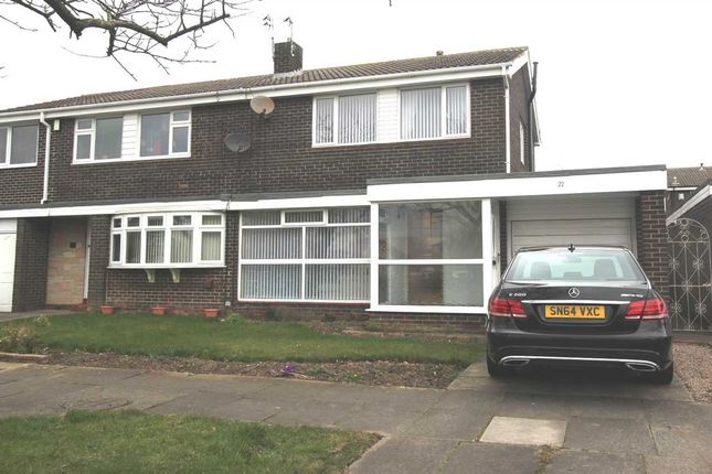 Thumbnail Semi-detached house for sale in Cramond Way, Collingwood Grange, Cramlington