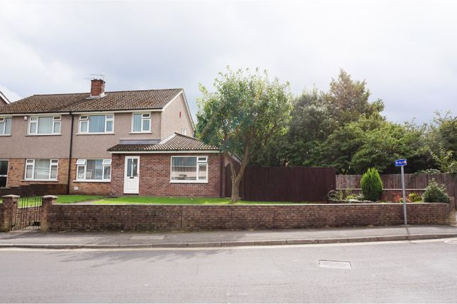 Thumbnail Semi-detached house for sale in Brynau Road, Caerphilly