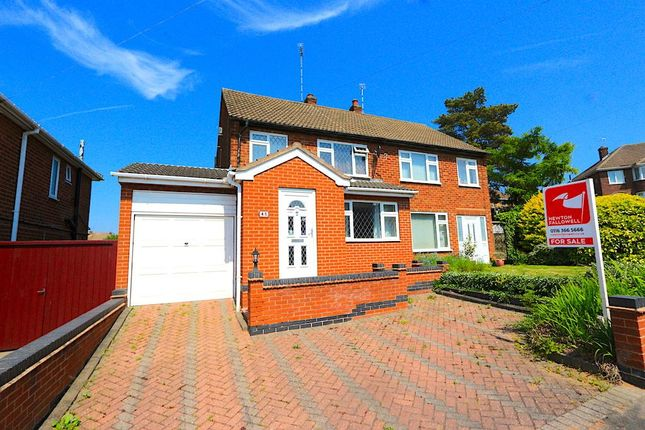 Thumbnail Semi-detached house for sale in Brockenhurst Drive, Braunstone, Leicester