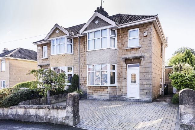 Thumbnail Semi-detached house for sale in Sladebrook Road, Bath