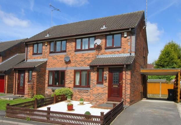 Thumbnail Semi-detached house for sale in Sparrowbusk Close, Barlborough, Chesterfield, Derbyshire