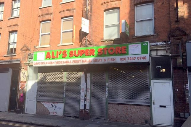 Thumbnail Retail premises to let in Fashion Street, London