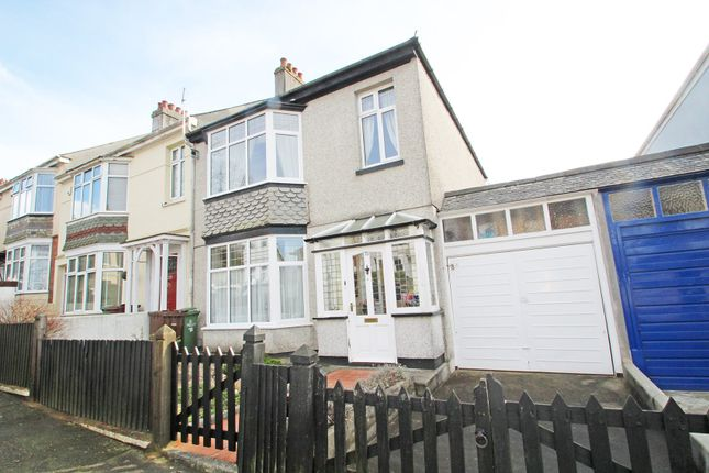 Thumbnail End terrace house for sale in Thornhill Road, Mannamead, Plymouth