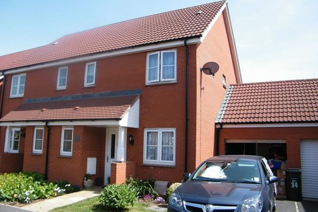 Thumbnail Terraced house to rent in Russet Close, Wellington, Somerset