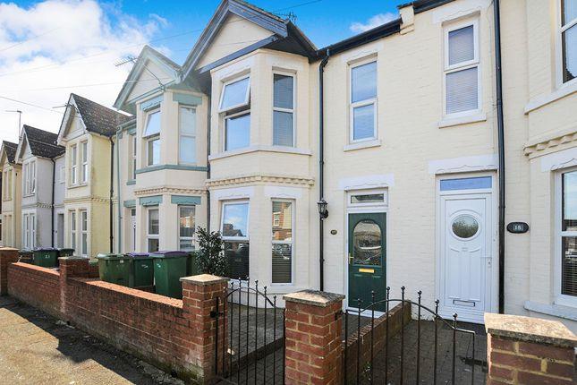 Thumbnail Terraced house for sale in Dunnett Road, Folkestone