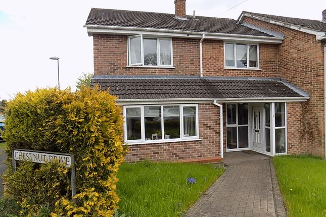 Thumbnail Semi-detached house for sale in Chestnut Drive, Ashbourne, Derbyshire