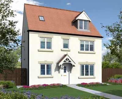 "Thumbnail Detached house for sale in ""The Woodchester"" at Coquet Enterprise Park, Amble, Morpeth"