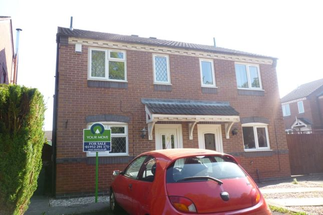 Thumbnail Semi-detached house for sale in Delamere Close, Newdale, Telford