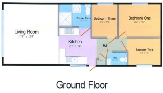 Floorplan of Perran Sands Holiday Park, Perranporth, Cornwall TR6