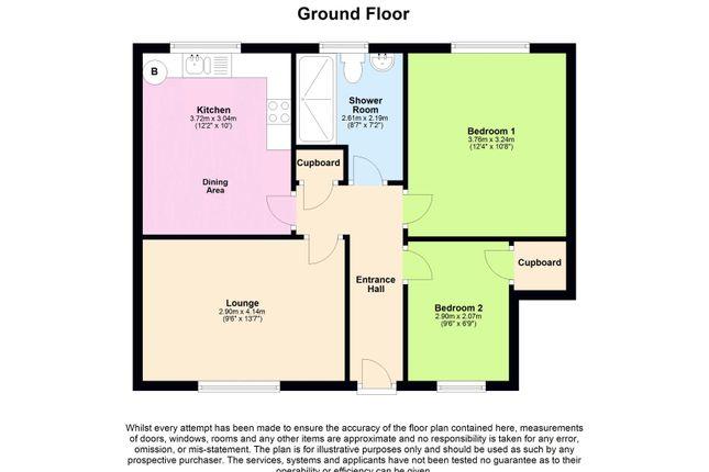 Floor Plan of Cornelius Close, South Cornelly, Bridgend CF33