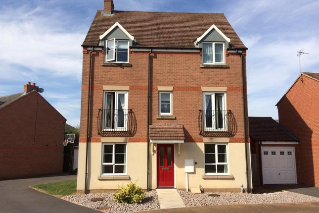 Thumbnail Detached house for sale in Clover Way, Syston, Leicester