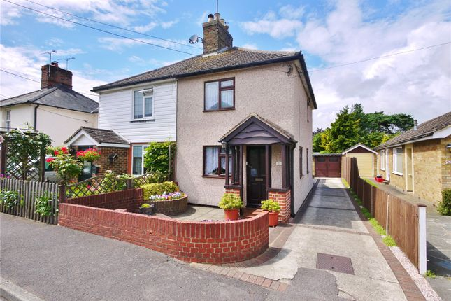 Thumbnail Semi-detached house for sale in Crow Green Road, Pilgrims Hatch, Brentwood, Essex