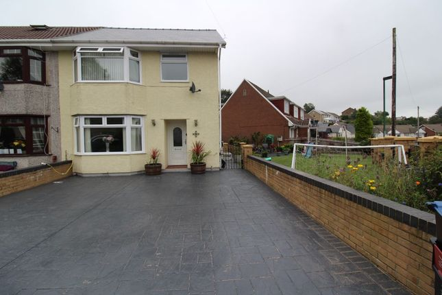 Thumbnail Semi-detached house for sale in Meadow Crescent, Scwrfa, Tredegar