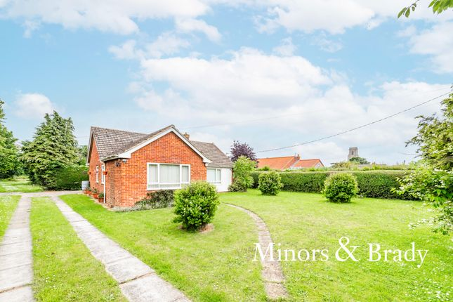 Thumbnail Detached bungalow for sale in Chapel Road, Trunch, North Walsham