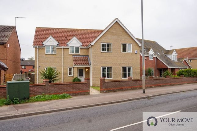 Thumbnail Detached house to rent in Beccles Road, Bradwell, Great Yarmouth