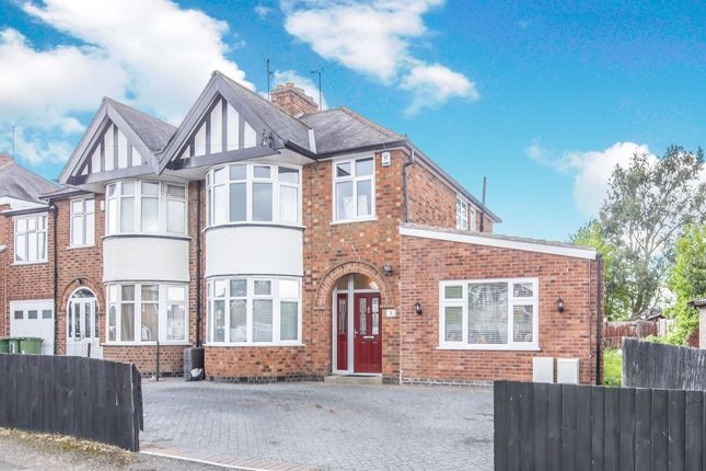 Thumbnail Semi-detached house for sale in Shakespeare Drive, Braunstone Town, Leicester