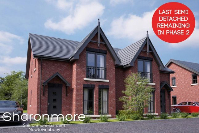 Thumbnail Semi-detached house for sale in Sharonmore Gardens, Newtownabbey