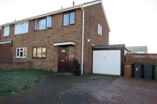 Thumbnail Semi-detached house for sale in Swallowdale Road, Melton Mowbray
