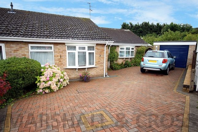 Thumbnail Semi-detached bungalow for sale in Saxon Rise, Irchester, Wellingborough, Northamptonshire.