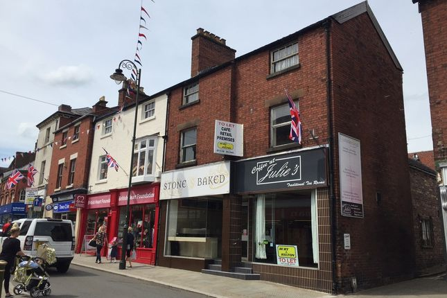 Thumbnail Retail premises for sale in 41-41A Derby Street, Leek, Staffordshire
