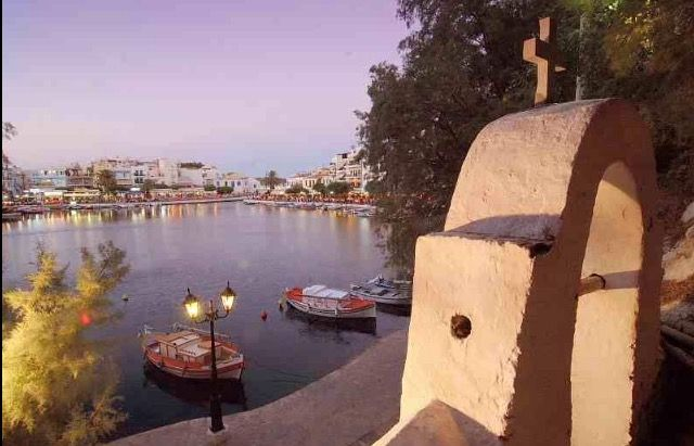 Agios Nikolaos Lake At Dusk