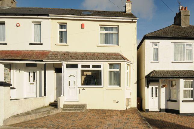 Thumbnail End terrace house for sale in Oakcroft Road, Plymouth, Devon