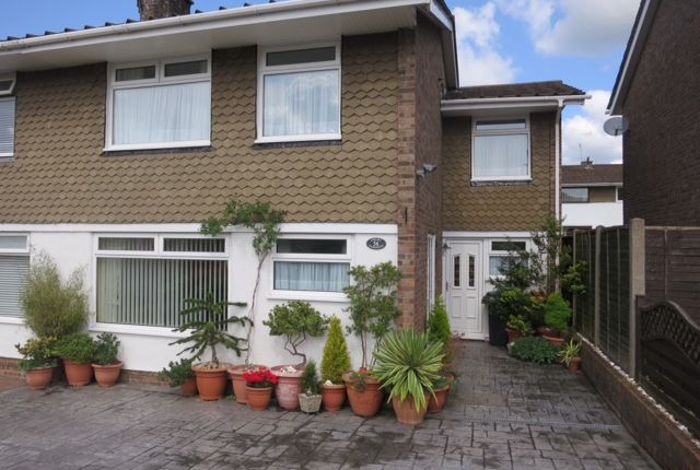 Thumbnail Semi-detached house to rent in Court Gardens, Rogerstone