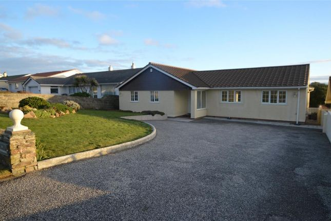 Thumbnail Detached bungalow for sale in Pentire Avenue, Newquay, Cornwall
