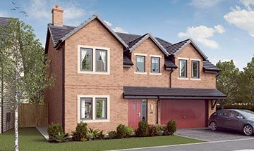 "Thumbnail Detached house for sale in ""The Cotham"" at Garden House Drive, Acomb, Hexham"