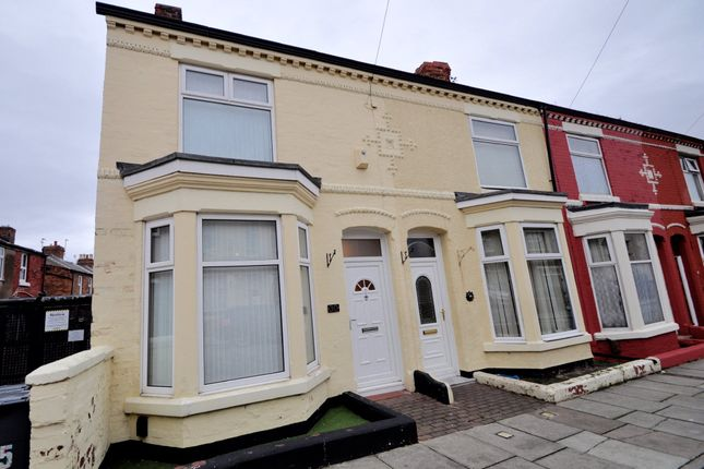 Thumbnail End terrace house to rent in Upper Rice Lane, Wallasey