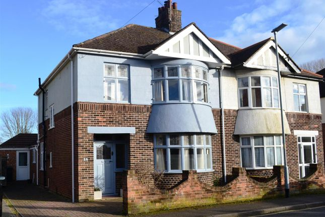 Thumbnail Semi-detached house for sale in King George V Avenue, King's Lynn