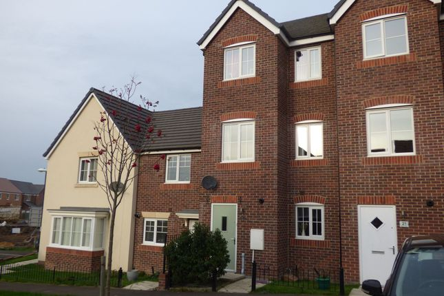 Thumbnail Town house for sale in Kestrel Close, Easington Lane, Houghton Le Spring