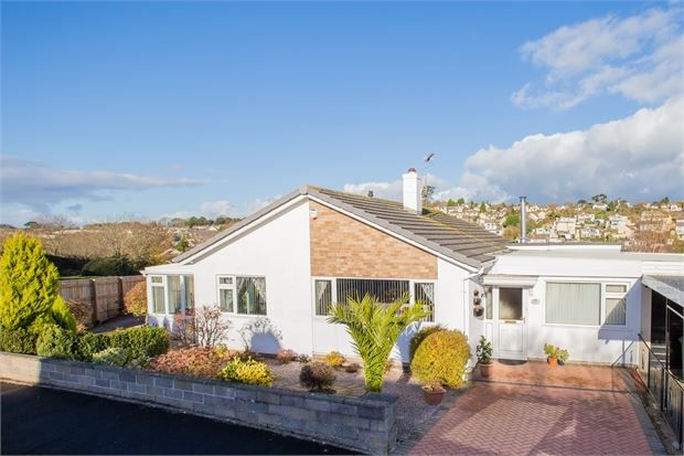 Thumbnail Detached bungalow for sale in Mayfield Crescent, Bradley Barton, Newton Abbot, Devon.