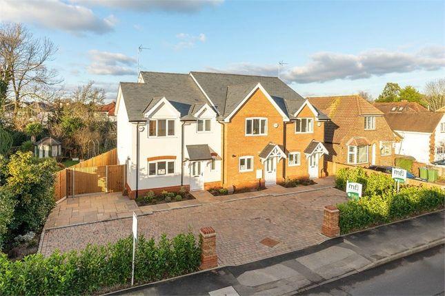 Thumbnail End terrace house for sale in Burwood Road, Hersham Village, Surrey