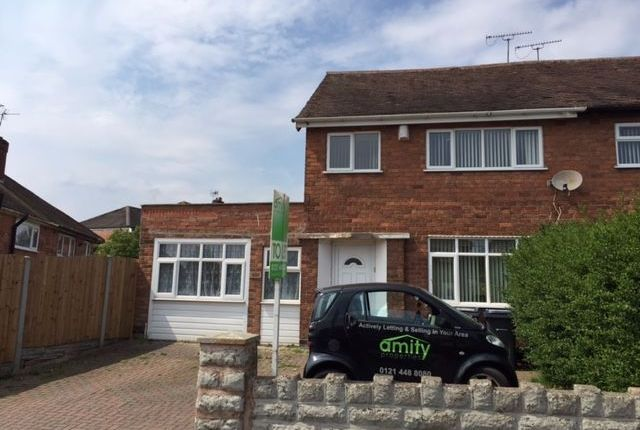 Thumbnail Semi-detached house to rent in Southgate Road, Great Barr, Birmingham
