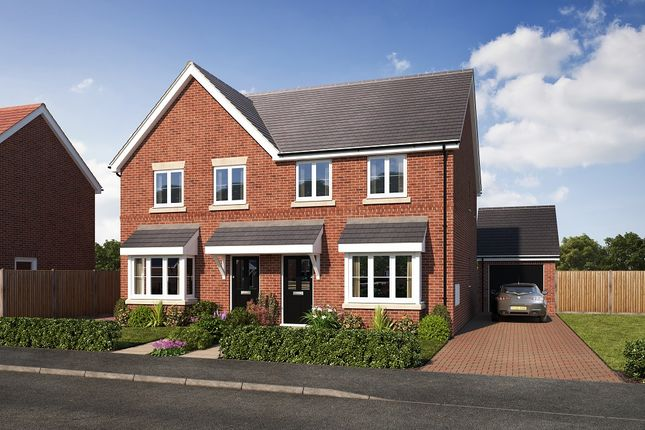 Thumbnail Semi-detached house for sale in Gateway Avenue, Newcastle Under Lyme, Staffordshire