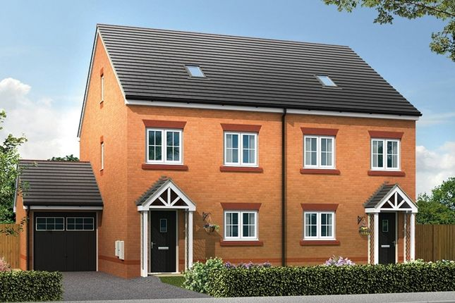 "Thumbnail Semi-detached house for sale in ""Ashley"" at Chester Lane, Saighton, Chester"