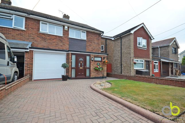 Thumbnail Semi-detached house for sale in Oakfield Road, Benfleet