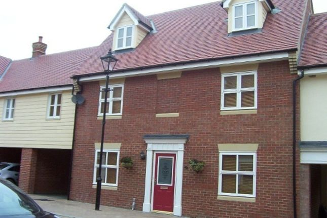 Thumbnail Terraced house to rent in Hatcher Crescent, Hythe Quay, Colchester