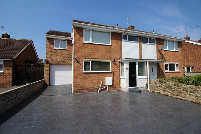 Thumbnail Semi-detached house for sale in Rutland Drive, Mickleover, Derby
